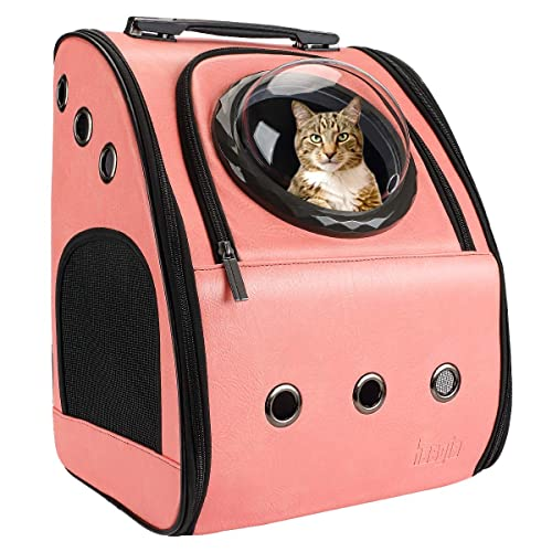 a2eb204480 Hasgia Cat Backpack Carrier Portable Traveler Handbag for Pet Small Dog with  Space Transparent Vision Cushion