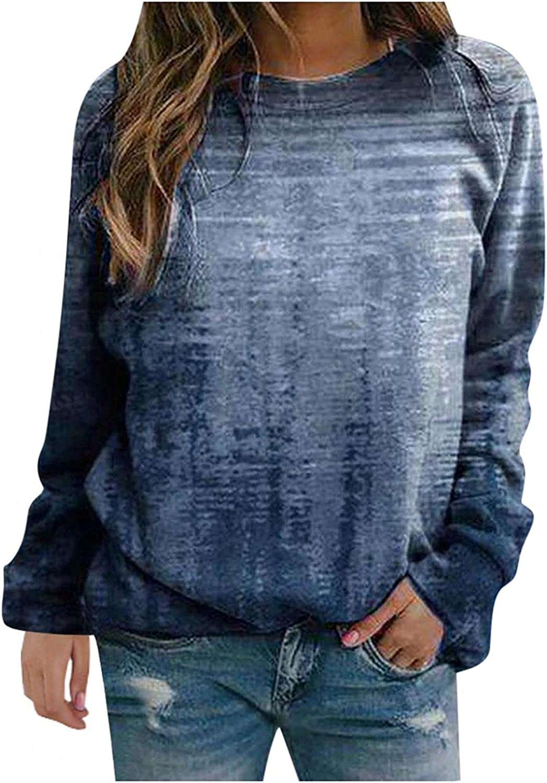 Crewneck Sweatshirts for Women, Plus Pullover Oversized Vintage Graphic Long Sleeve Loose Sweatshirt Sweaters Tops Shirts