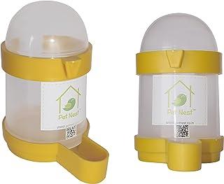 PetNest Bird Cage Water & Food Feeder - 200ml (Pack of 2)