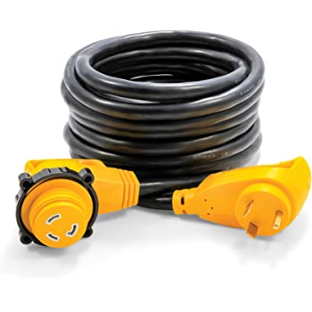 Amazon Com Camco 25 Powergrip Heavy Duty Extension Cord With 30m 30f 90 Degree Locking Adapter Allows For Easy Rv Connection To Distant Power Outlets Built To Last 55524 Automotive