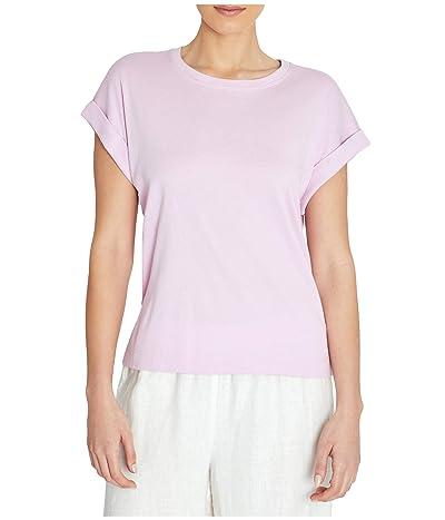 Three Dots Cotton Modal Short Sleeve Top (Orchid) Women