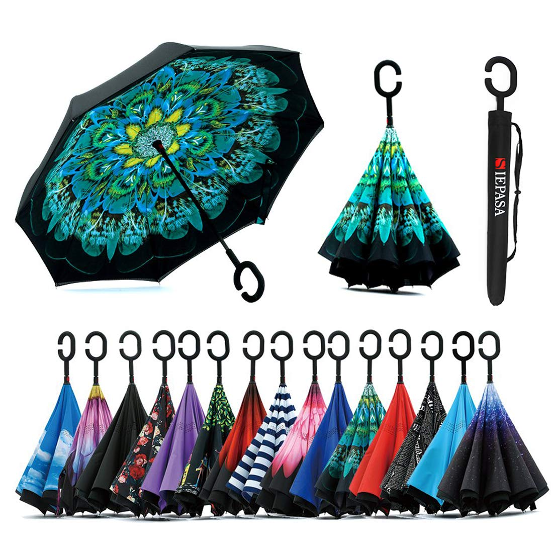 Inverted Umbrella C Shaped Waterproof Windproof
