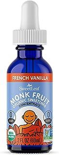 SweetLeaf Organic Monk Fruit Liquid French Vanilla Flavored Sweetener, 2 Ounce