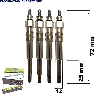 Bougies de Pr/échauffage /à Double Noyau en Alliage Daluminium EBTOOLS Bougie de Pr/échauffage Diesel 4PCS