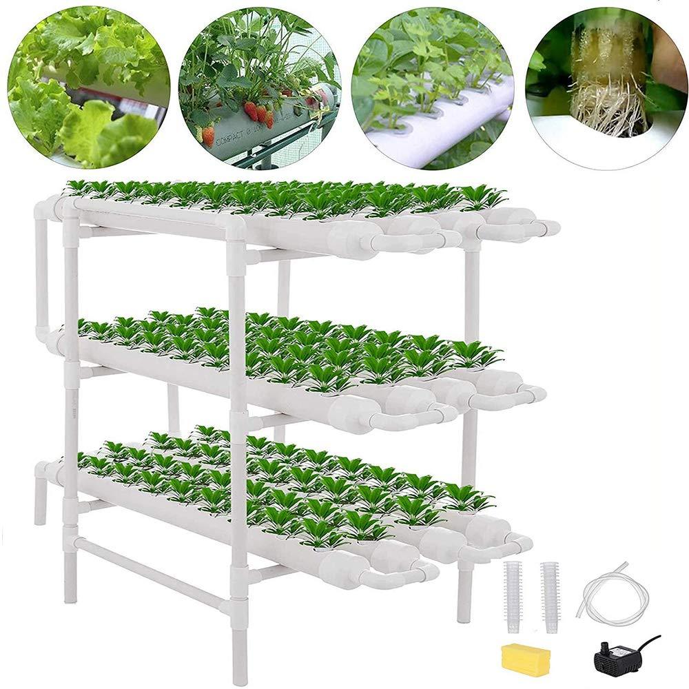 ZHENN Kit de Cultivo hidropónico, Sistema de hidroponisches 108 sitios de Plantas jardín Cultivo Agua Vertical PVC Experimento hidropónico Blanco,96x50x105cm: Amazon.es: Deportes y aire libre