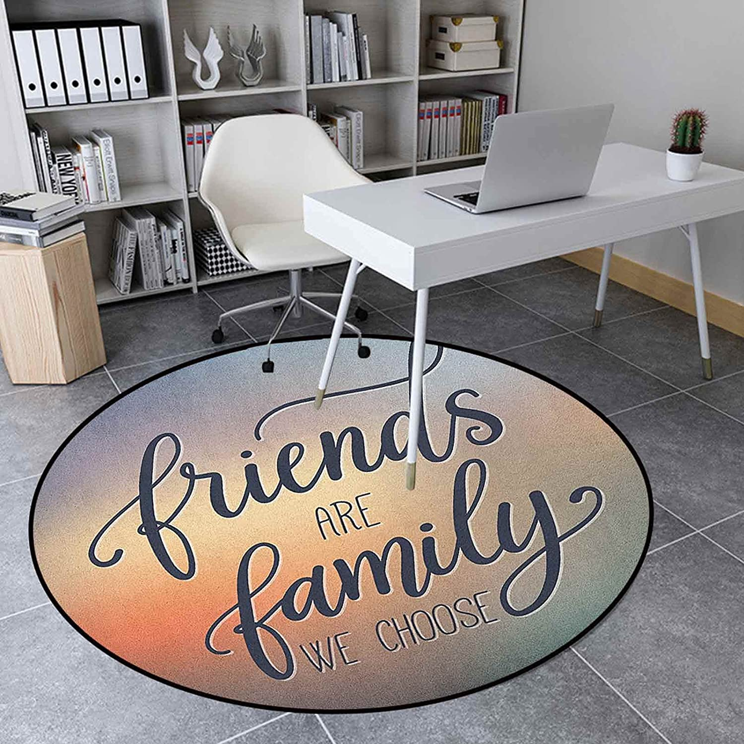 Family Round Rugs 3.9 Ft Anti-Slip Inches Home Decoratio Carpet Limited Special Price Outlet SALE