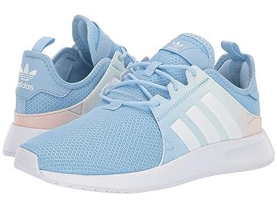 adidas Originals Kids X_PLR (Big Kid) (White/Sky Blue) Girls Shoes