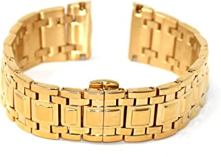 20MM Gold Stainless Steel 7.5 Inches Watch Strap Band Bracelet Fits 30mm Colosso Women's Watch