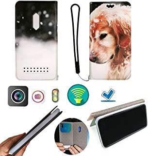 FY Flip Case For Tecno Spark 4 Lite Cover Flip PU Leather + Silicone Ring case Fixed DTG