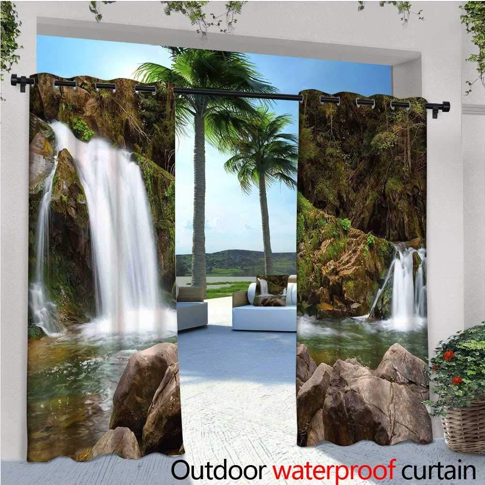 CobeDecor - Cortinas de cascada para exteriores y exteriores, pintura de río hada entre diferentes calcetines coloridos,