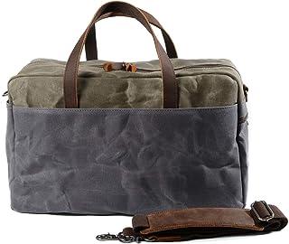 Muchuan 6117 Reisetasche mit großem Fassungsvermögen, Segeltuch Grau dunkelgrau L