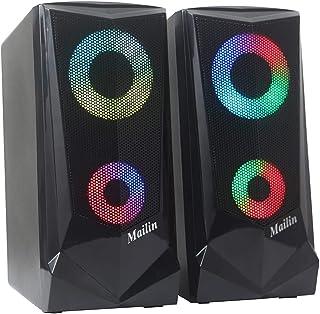 Mailin Game RGB Computer Speaker, PC Speaker, Laptop Speaker, USB Power Supply 3.5mm Stereo Input, 5 Watts RMS Total Power...