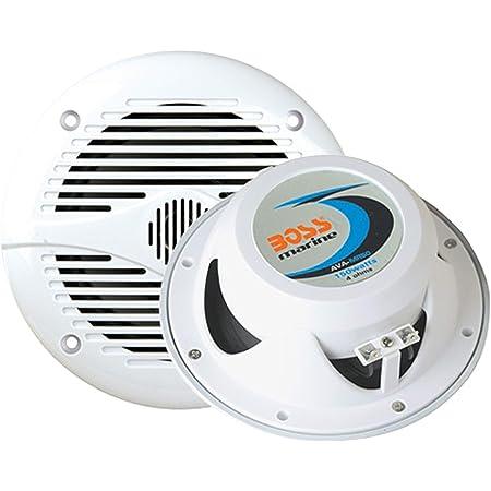BOSS Audio Systems Marine MR50W 150 Watt Per Pair, 5.25 Inch Full Range, 2 Way, Weatherproof Sold in Pairs