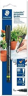 Staedtler Lumocolor Garden, Feutre indélébile noir spécial jardin et extérieur, Résistant aux UV et à l'eau, Pointe moyenn...