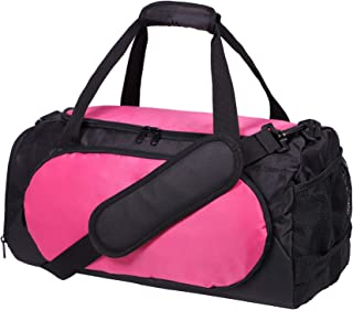 Small Gym Sports Bag for Women Ladies and girls with Shoes Compartment, 18 Inches