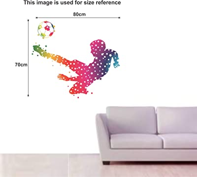 Happy Walls Animated colourfull Boy with Footballs Wall Stickers
