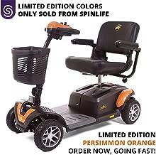 BUZZAROUND EX 4-Wheel Heavy Duty Long Range Travel Scooter Orange, 20-Inch Seat