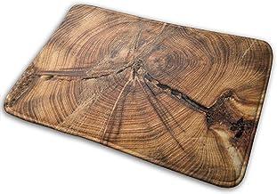Sección Transversal Tronco de árbol Muestra Crecimiento Bienvenido Felpudo Alfombra para Cocina Alfombra Baño Alfombra de Sala de Estar al Aire Libre