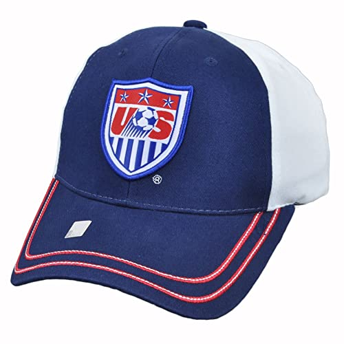34744a4bc6d Team USA Soccer 2014 World Cup Adjustable Baseball Hat Cap - White and Blue  (White