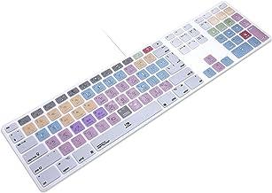 پوشش پوست صفحه کلید سیلیکونی نقره ای HRH برای صفحه کلید USB سیمی iMac با اندازه کامل با صفحه کلید عددی A1243 (G6 MB110LL / B و MB110LL / A)