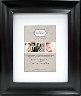 MCS 8x10 Inch Archival Frame with 5x7 Inch Mat Opening, Black (47618)