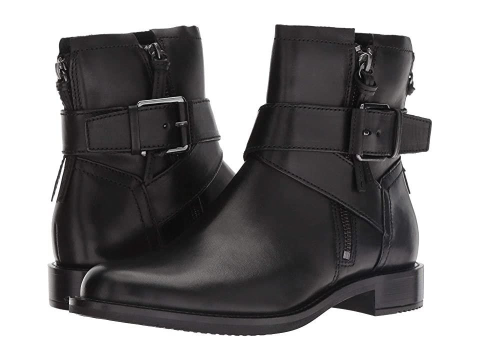 ECCO Shape 25 Buckle Boot (Black Cow Leather) Women