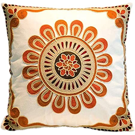 geometric embroidery cushion cover bulgarian cross 1950s vintage pillow cover Double cross stitch pillow cover rustic decor cushion.