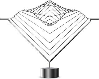 Ivan アテラニ 正方形 波 水平線 | イタリアで手作り キネティックスカルプチャーデスクトップ ステンレススチール クールなデスクガジェット 物理学ギフト 大人向けデスクトイ マジカルカルカルカルカルカルカルカルカルカルマングアートピース