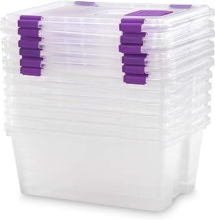 TODO HOGAR Caja Almacenaje plástico Transparente Natural -