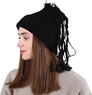 TWGONE Womens Slouchy Beanie Winter Hat Knit Warm Snow Ski Skull Cap Wool Solid Manual Braid Beanie Crochet Cap