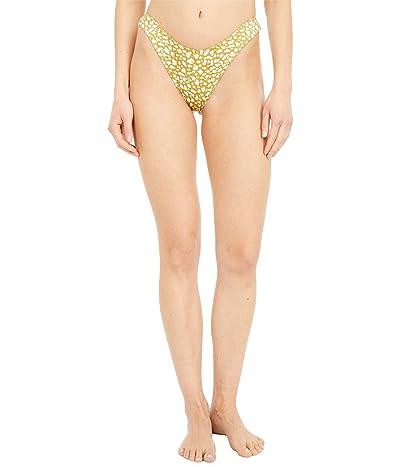 Roxy Lilies Surf Mini Bikini Bottoms (Olive Oil Leaf) Women