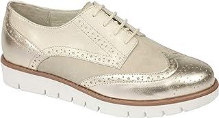 7e4319feac22 Scholl Chaussures de Ville à Lacets Pour Femme Platine - - Platine
