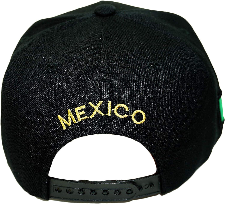 Mexico Eagle Embroidery Snapback Hat Adjustable Mexico Flag Baseball Cap