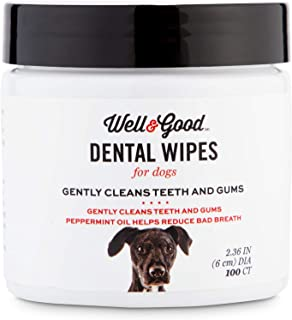 Well & Good Dog Dental Wipes, Pack of 100