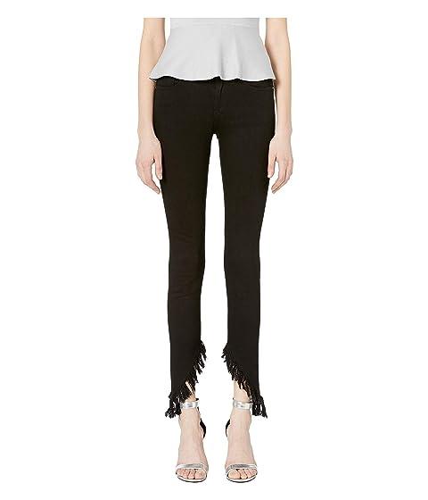 Versus Versace Ripped Hem Jeans in Black