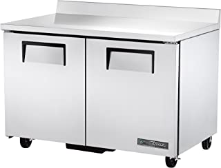 True TWT-48-HC Solid Door Worktop Refrigerator with Hydrocarbon Refrigerant, 39.5