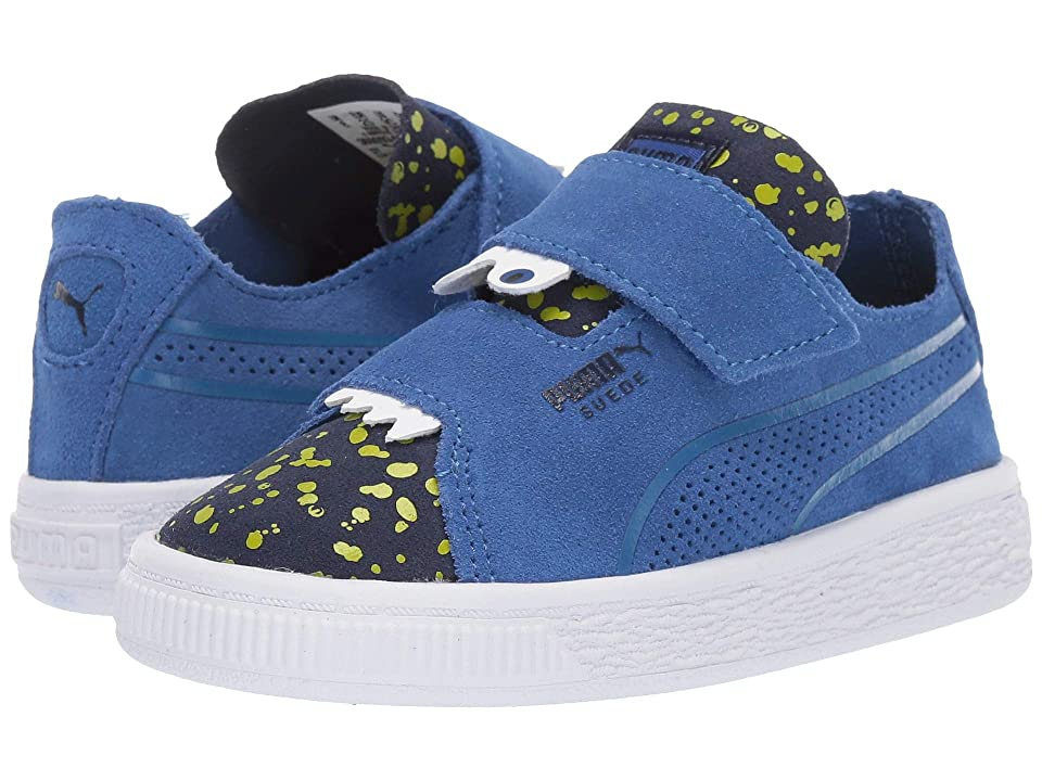 Puma Kids Suede Deconstruct Monster V (Toddler) (Surf the Web/Peacoat/Blazing Yellow) Boys Shoes
