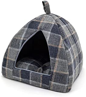 Pet Tent-Soft Bed for Dog and Cat by Best Pet Supplies - Plaid Linen, X-Large