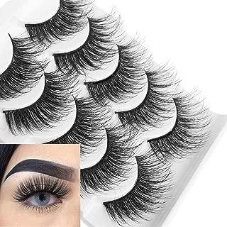 5 Pairs 3D Soft Mink False Eyelashes Fluffy Wispy Thick Lashes Full Strips Handmade Eye Makeup Tools