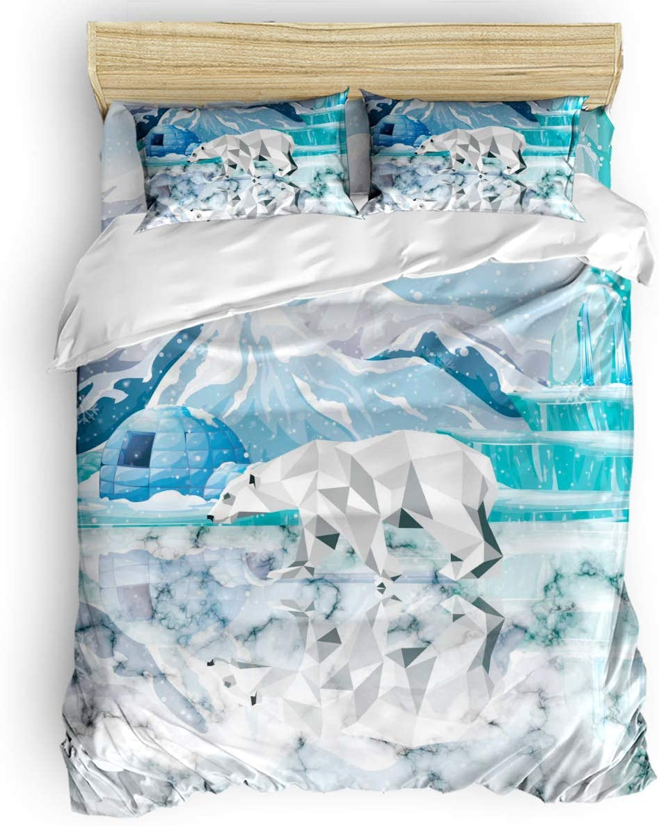 Animals 4 Pieces Duvet Sales for sale Outstanding Cover with Sets Zipper C Comforter