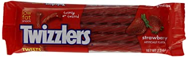 TWIZZLERS Twists (Fresa, sobres de 2.5 oz., paquete de 36)