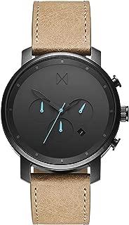 MVMT Chrono Watches | 45 MM Men's Analog Watch Chronograph | Leather Wristband (Gunmetal Sandstone)