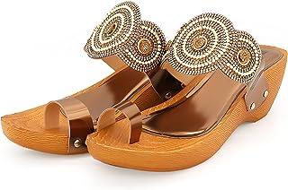 Divain Womens Wedge Fashion Sandal (Art No D 111)