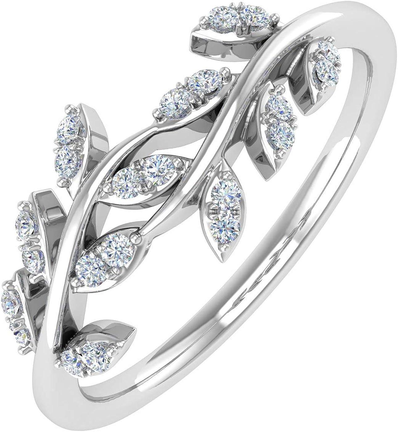 10K Gold Diamond Nature Wedding Band (0.15 Carat)