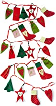 Heitmann - Calendario de Adviento Decorativo para Rellenar y Colgar - Calendario de Adviento de Fieltro - Motivos navideños - Rojo, Verde