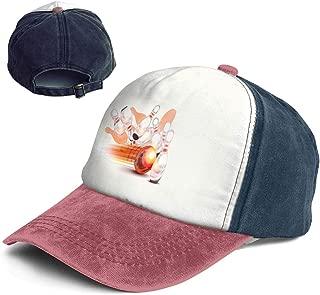 MANIIL Vintage Bowling Ball Transparent Shining Cotton Adjustable Washed Dad Hat Baseball Cap