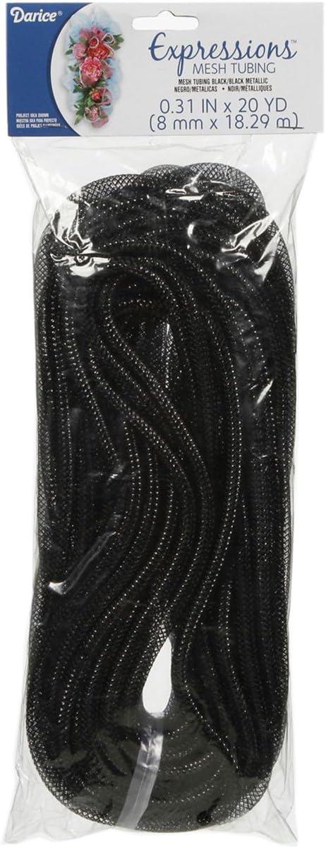 Deluxe Darice San Diego Mall Mesh Tubing 8mm by and Metallic 20-Yard Black
