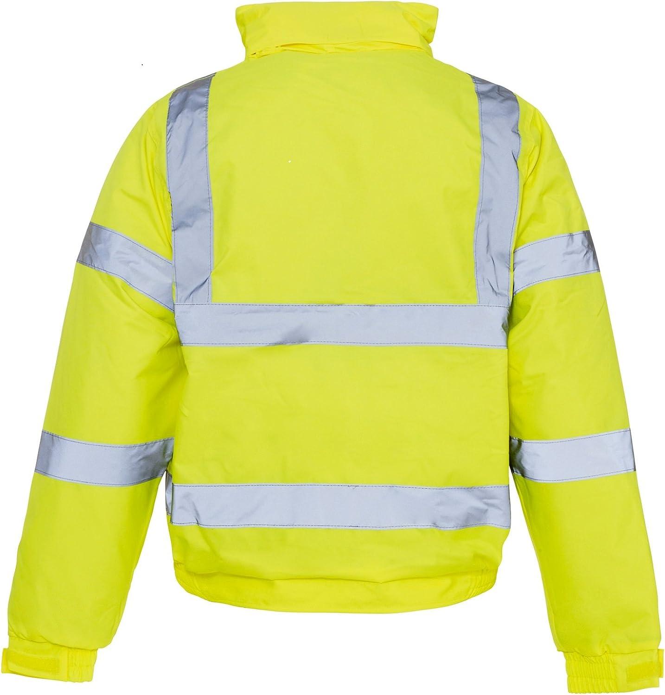 High Visibility High Viz Bomber Work Jacket Waterproof Padded Jacket Coat High Viz Coat
