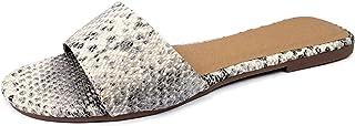 Harper Shoes Women's Slip on Flat Slide Band Sandal
