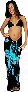 1 World Sarongs Womens Hibiscus Flower Swimsuit Sarong